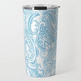 Paisley batik aqua Travel Mug