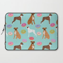 Boxer donuts cute gifts for pure breed dog lover Boxers dog owners Laptop Sleeve