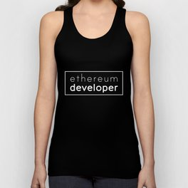 Ethereum developer - ETHER Unisex Tank Top