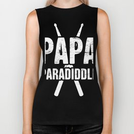 Papa Paradiddle | Percussion Marching Band Biker Tank
