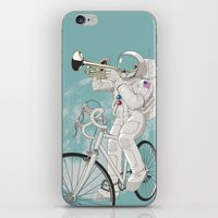 louis armstrong iPhone & iPod Skins featuring armstrong by mauro mondin