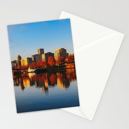 sunrise on downtown portland Stationery Cards