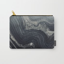 Dark Gray Marble Pattern Carry-All Pouch