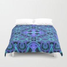 Aqua/Purple Mandala Duvet Cover
