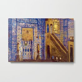 Islamic Masterpiece 'Interior of the Mosque' by Jéan Leon Gerome Metal Print