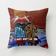 Art is life! Throw Pillow