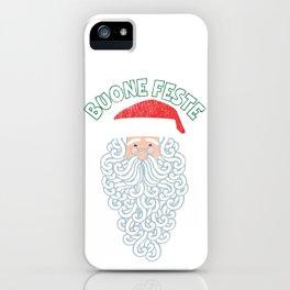 Vintage Faded Italian Christmas Buone Feste iPhone Case