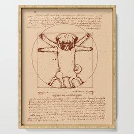 Vitruvian pug Serving Tray
