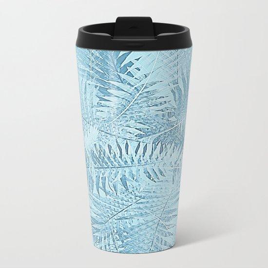 Abstract Tropical leaves Metal Travel Mug