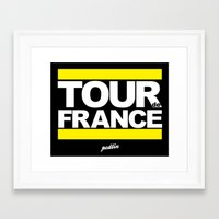 tour de france Framed Art Prints featuring Tour de France by Pedlin