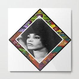 Ms. Davis Afro Diamond Metal Print