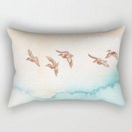 Blue-Winged Teals Rectangular Pillow