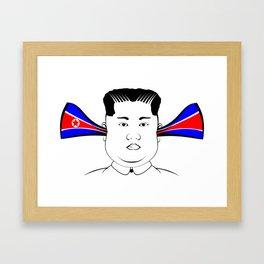 Kim Jong Un Framed Art Print