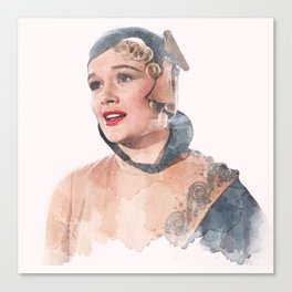 Lina Lamont - Jean Hagen - Singin' in the Rain - Watercolor Canvas Print