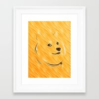 doge Framed Art Prints featuring Doge by Creadoorm
