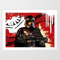 Captain Phasma SW VII Force Awakens Digital Art Art Print