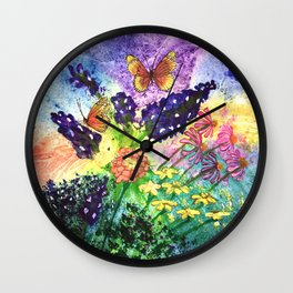 Bluebonnet Bouquet Wall Clock