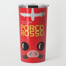 Porco Rosso - Hayao Miyazaki minimalist movie poster - Studio Ghibli, japanese animated film Travel Mug