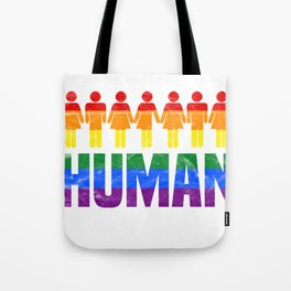 LGBT - We Are All Human Tote Bag