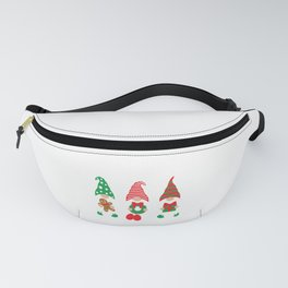 Gnomes with Wreath, Present and Gingerbread Man Fanny Pack