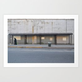 Almost Vacant Bus Stop - Brooklyn, New York Art Print