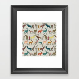 patterned deer stone Framed Art Print