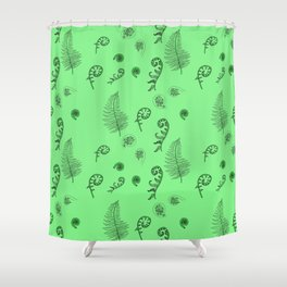 Fiddleheads and Ferns Shower Curtain