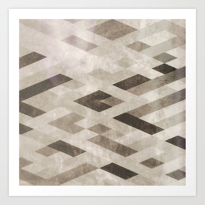 Abstract Pattern in Subtle Art Print