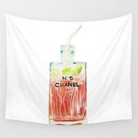 perfume Wall Tapestries featuring Perfume Cocktail, no. 1 by shaylenereynolds