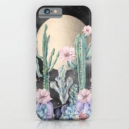 Desert Nights Gold Moon and Gemstones iPhone Case