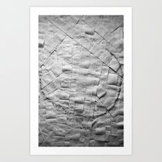 Smile on toilet paper Art Print