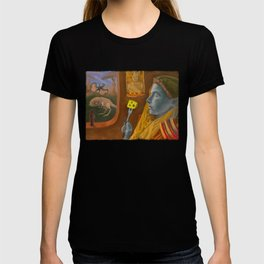 Dream caused by the flight of a cliff racer around a guar a second before awakening T-shirt