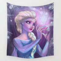 elsa Wall Tapestries featuring Elsa by Red Red Telephone