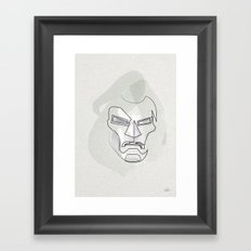 One Line Mask of Doom Framed Art Print
