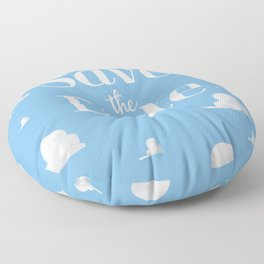 Save the Date vintage clouds Floor Pillow