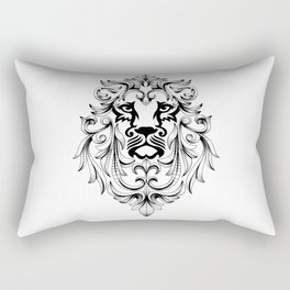 Heraldic Lion Head Rectangular Pillow