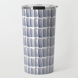 Chambray Abstract Pattern Travel Mug