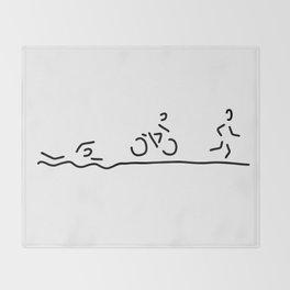 triathlon triathlet Throw Blanket