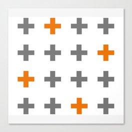 Swiss cross / plus sign Canvas Print