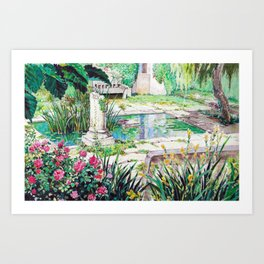 Ghibli background art from Porco Rosso Art Print