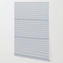 Chevron - light blue and grey Wallpaper