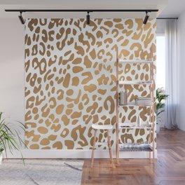 Golden Leopard Print Wall Mural