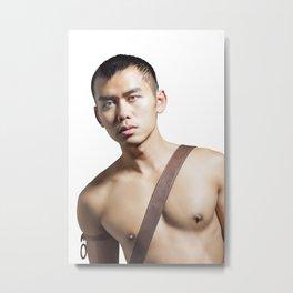 shirtless man Metal Print