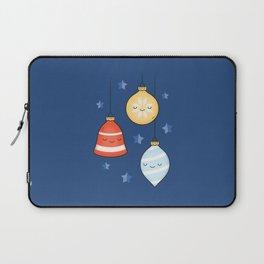 Merry Christmas! Jolly Stars, Baubles & Bells Laptop Sleeve