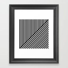 Black & White Stripes & Diagonals Framed Art Print