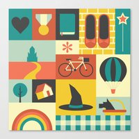 oz Canvas Prints featuring Oz by Ariel Wilson