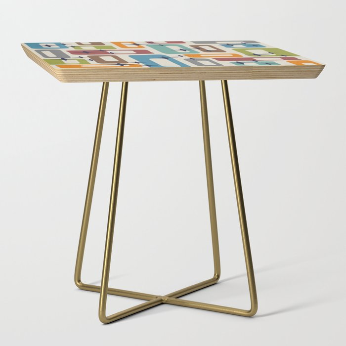 Retro Mid Century Modern Abstract Pattern 224 Side Table