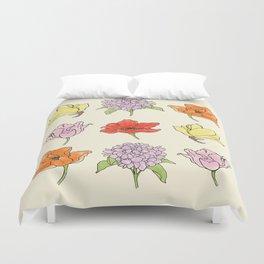 9 flowers Duvet Cover