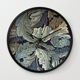 Acanthus by William Morris Wall Clock