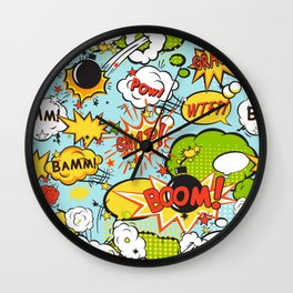 Modern Happy Pop-art Pattern Wall Clock